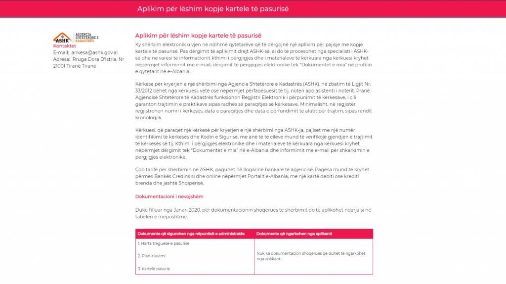 Me e-Albania edhe dokumenti i pronës online