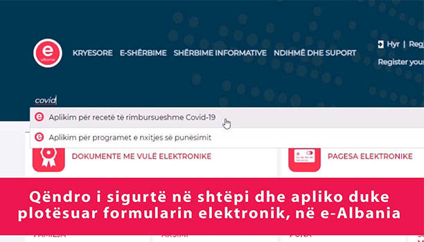 Karçanaj: Receta e rimbursueshme kundër COVID-19, elektronike në e-Albania